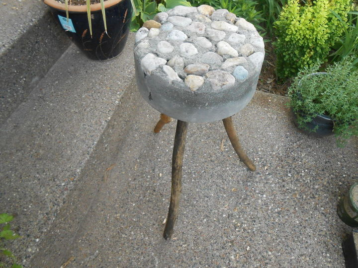 "My ""rustic"" bucket stool"