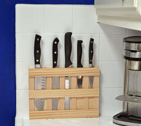 Diy Wall Mounted Wood Knife Rack To Save Space In A Small Kitchen, Kitchen  Design