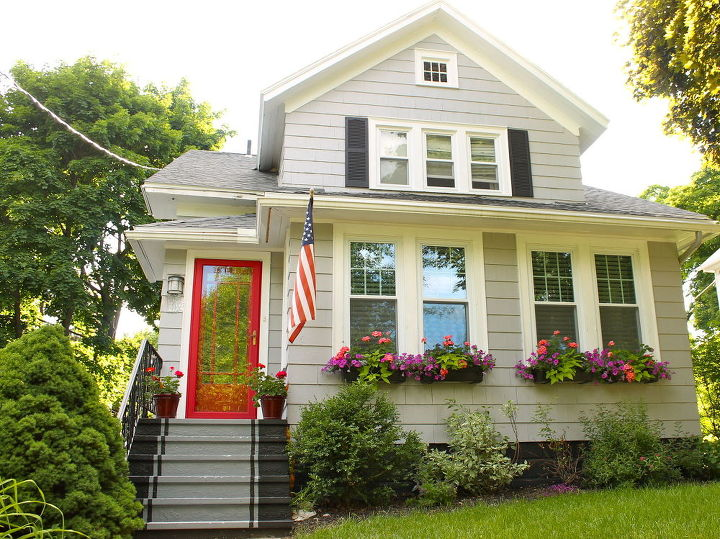 we added some more curb appeal, painting, porches