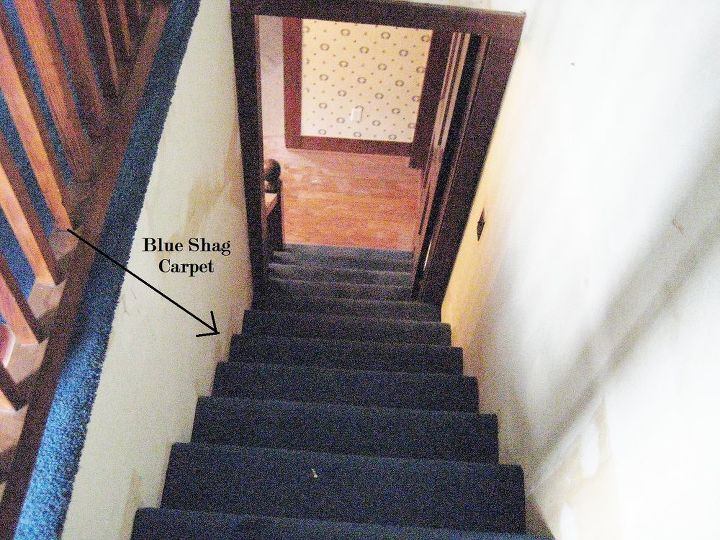 Before of Stairs  http://www.thistlewoodfarms.com/a-little-shaggy-around-the-edges