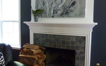 New painting, ,minimized the tchatchkis for the new fireplace update