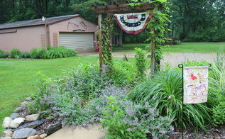 a june garden stroll thru the small house garden, flowers, gardening, hydrangea, landscape, outdoor living, patriotic decor ideas, perennial, seasonal holiday decor