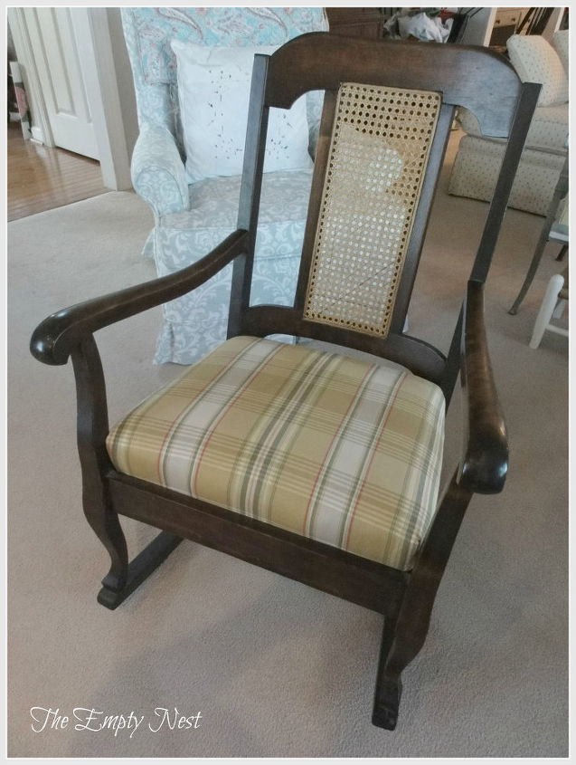 rocker before Chalk Paint™  no sanding or priming needed...Annie's Chalk Paint™ adheres to just about any surface. FYI...it's made right here in Kansas City!! Proof that America does still produce quality products!