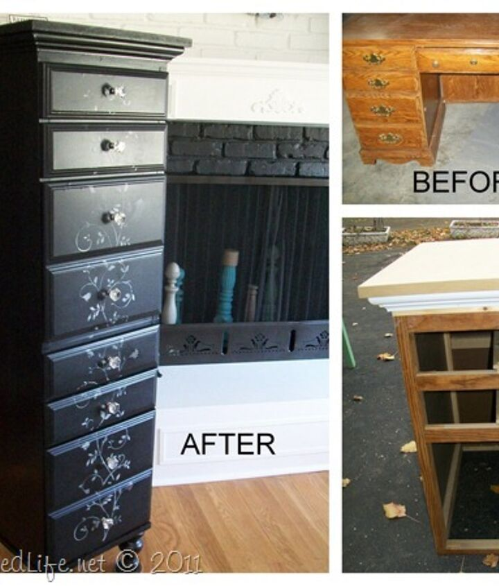 This picture shows the before, during and after.