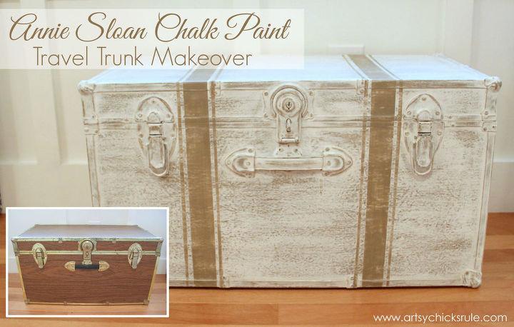 Travel Trunk Chalk Paint Makeover Hometalk