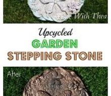 from old and faded to new and fabulous upcycled garden stepping stones, concrete masonry, gardening, landscape