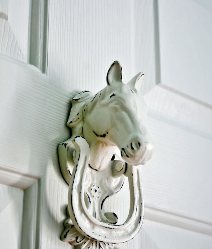 Hand poured iron horse knocker from Etsy
