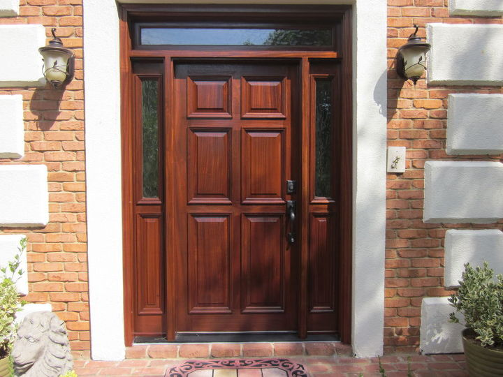 you never get a second chance to make a first impression, curb appeal, doors, flooring, foyer, living room ideas, stairs, tile flooring, The front door after