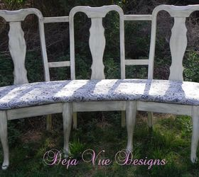 Three Found Chairs Made Into A Curvy Bench, Outdoor Furniture, Painted  Furniture, I