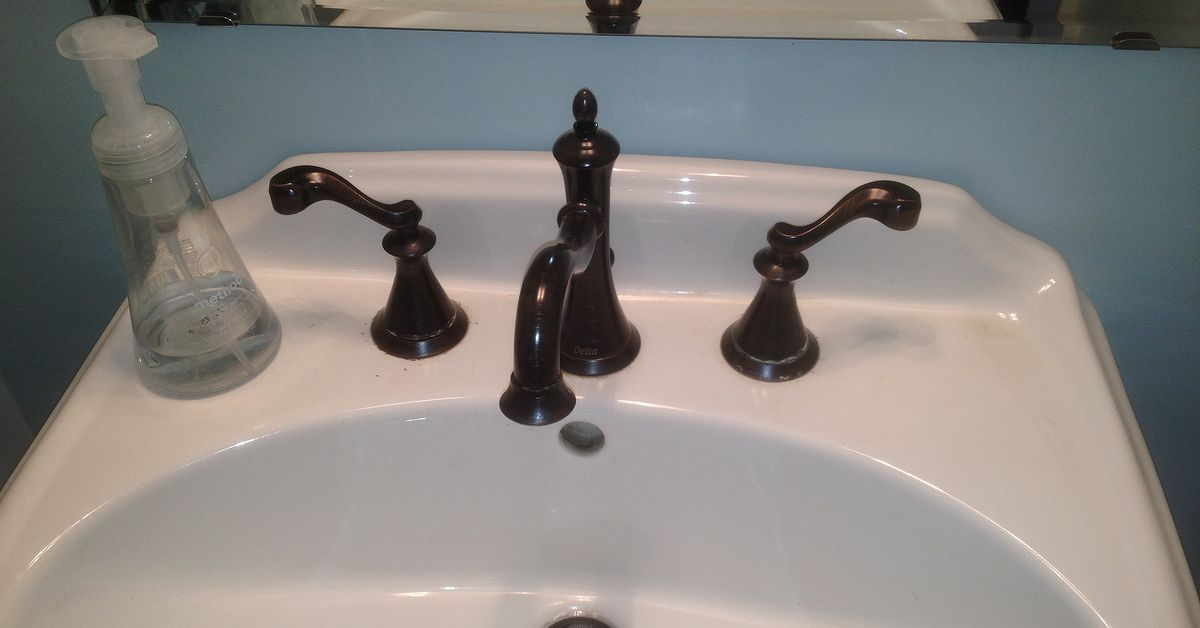 Faucet Handle Cleanup Suggestions For Hardwater Deposits