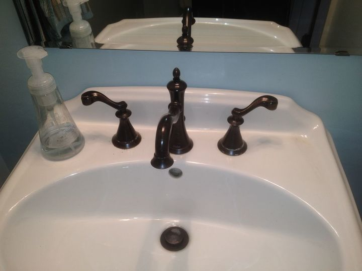 Faucet Handle Cleanup Suggestions For Hardwater Deposits Bathroom Ideas Cleaning Tips Plumbing Oil Rubbed Bronze