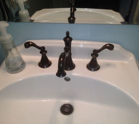 Merveilleux Faucet Handle Cleanup Suggestions For Hardwater Deposits, Bathroom Ideas,  Cleaning Tips, Plumbing,. Oil Rubbed Bronze Faucet By Delta ...