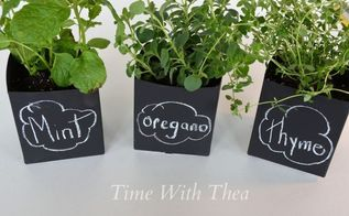 milk cartons chalkboard paint fabulous herb pots, chalkboard paint, crafts, gardening, repurposing upcycling