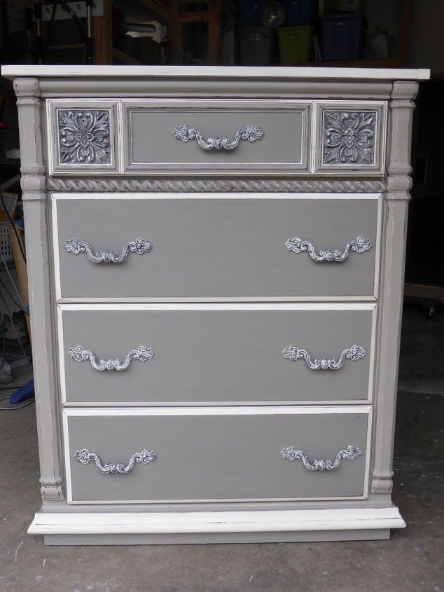 Sophisticated Grey Painted Lady Dresser Chalk Paint Furniture