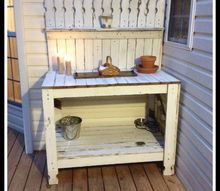 recycling old picket fencing, fences, outdoor furniture, painted furniture, repurposing upcycling, woodworking projects