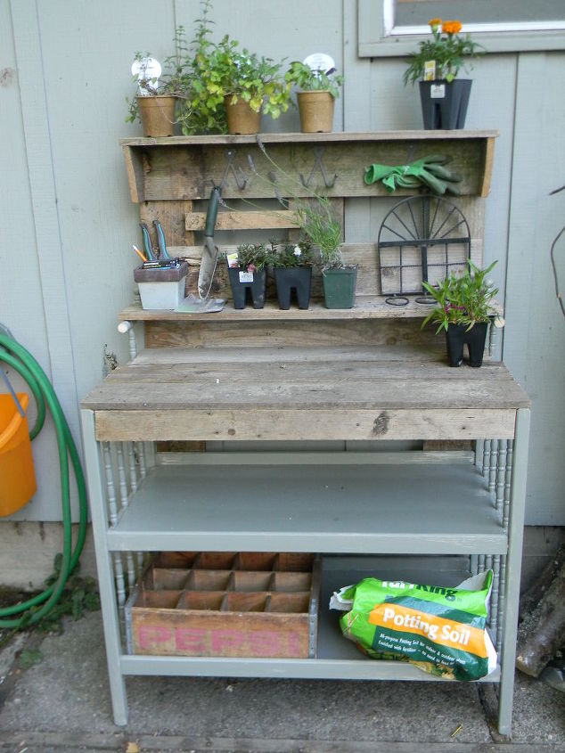 Baby changing table made into a potters bench hometalk baby changing table made into a potter s bench gardening painted furniture repurposing workwithnaturefo