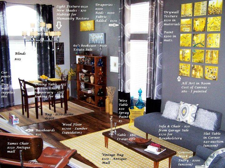 how to re do a room on a budget of 4000, home decor, living room ideas