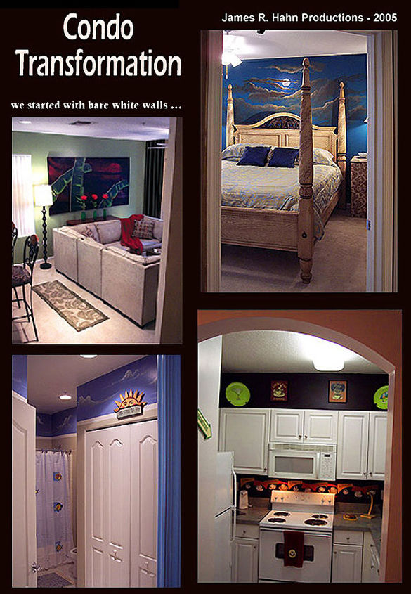 another before and after from james r hahn productions, home decor, home improvement, condo transformation from James K jamesrhahn com