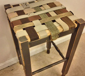 Thrift Store Belts Repurposed Into Functional Seating, Painted Furniture,  Repurposing Upcycling