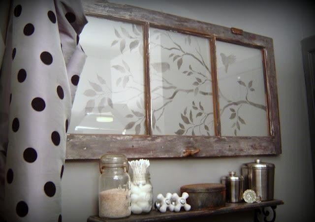 a design stencilled onto an old window makes one very pretty wall feature isn t this, crafts, home decor