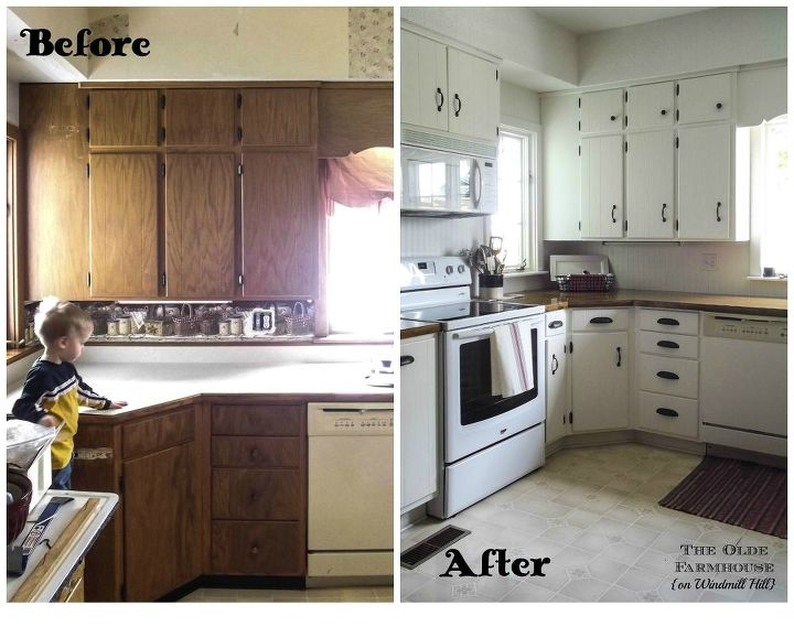 Painted Farmhouse Kitchen Diy Cabinets Design Painting