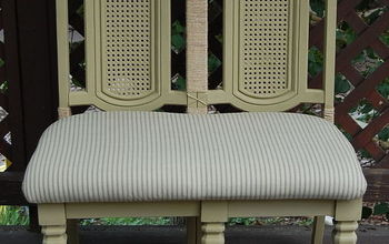 How To Make a Bench From a Chair Pair
