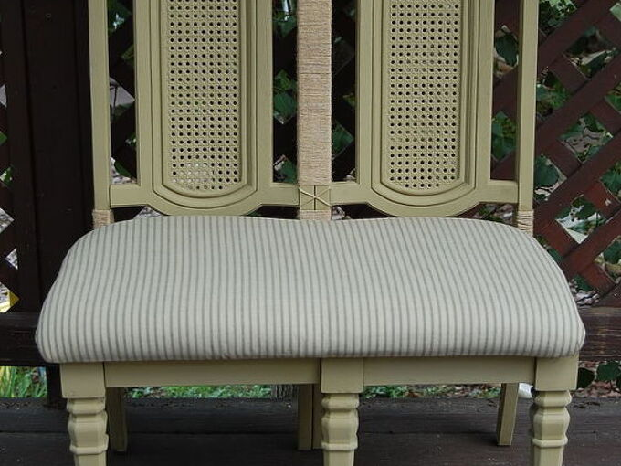 bench chair set diy how to, diy, painted furniture, repurposing upcycling