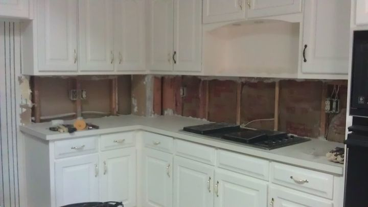 q help cement board sheetrock more drywall for tiling kitchen backsplash, home maintenance repairs, kitchen backsplash, kitchen design, tiling