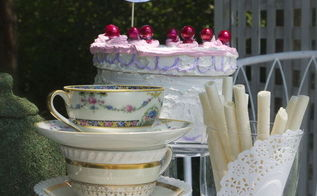 croquet anyone a mad hatter tea party with faux box cake, crafts