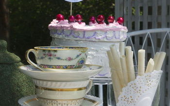"Croquet Anyone? A Mad Hatter Tea Party With ""faux"" Box Cake"