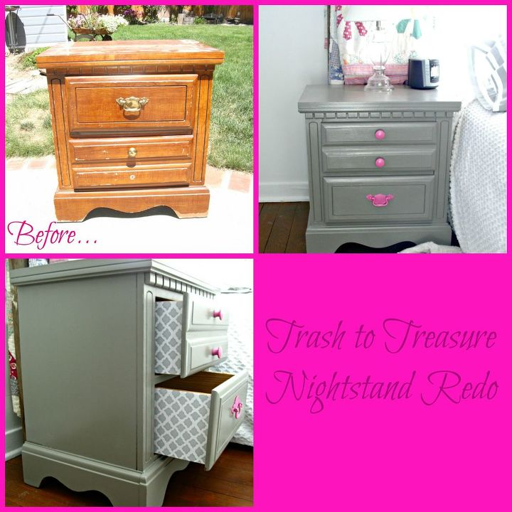 Trash To Treasure Nightstand Redo Hometalk