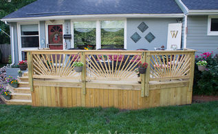 diy outdoor living how our 1950 s dated ranch home got a facelift, container gardening, decks, diy, flowers, outdoor living