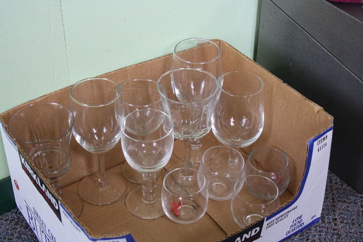 q how could i use wine glasses in the garden, gardening, repurposing upcycling