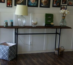 Industrial Rustic Console Table, Diy, Home Decor, Painted Furniture, Rustic  Furniture