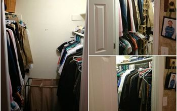 Master Closet Makeover on a Tight Budget