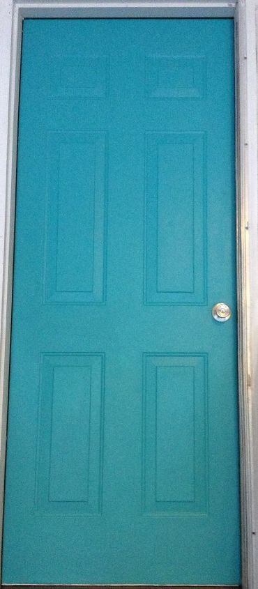 How Do I Glaze Or Distress My Turquoise Door Hometalk