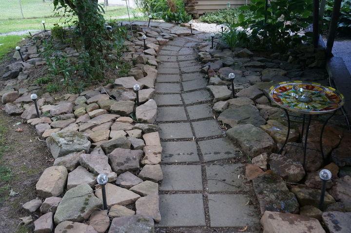 rock garden backyard stone, gardening, landscape