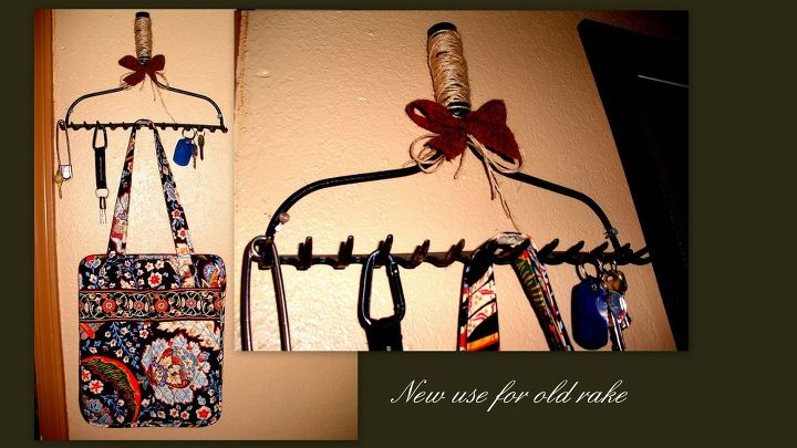key and purse holder, cleaning tips, repurposing upcycling