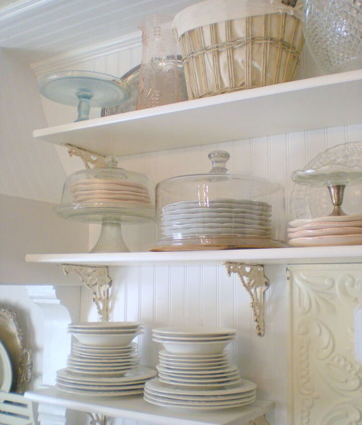 Storing favorite dishes under cake domes keeps them dust free and makes for an interesting visual.