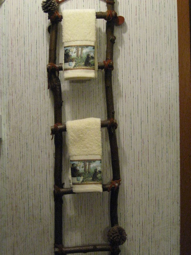 Hand made Towel Racks.