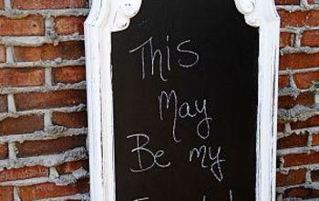 Chalkboard on mirror or glass? Heck yes!
