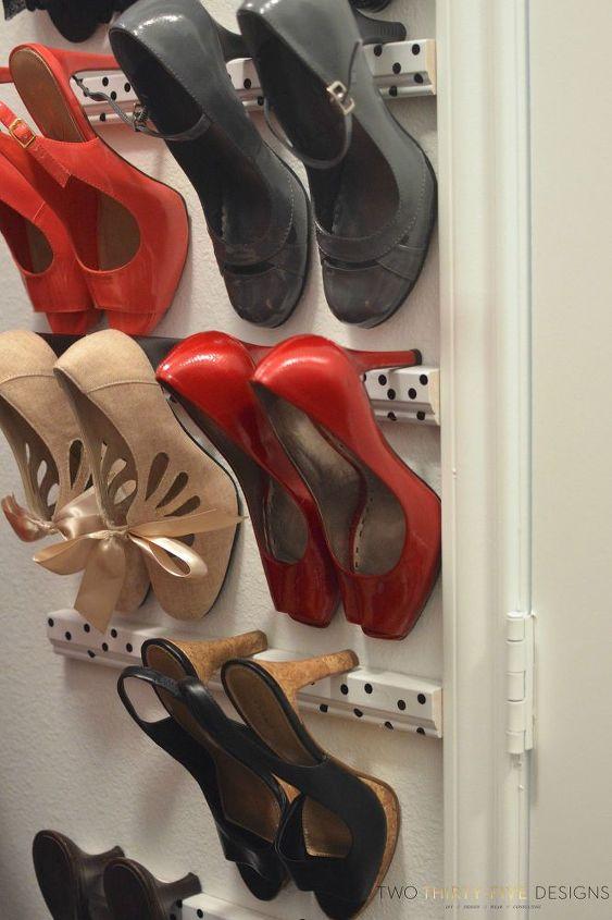 shoe storage high heels, closet, diy, storage ideas