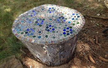 Mosaic Garden Stump