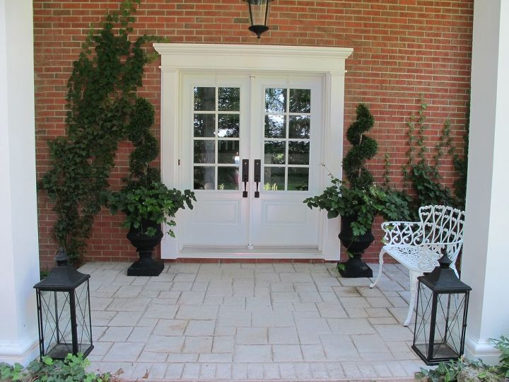 front entrance outdoor decor traditional, curb appeal, gardening, landscape, porches