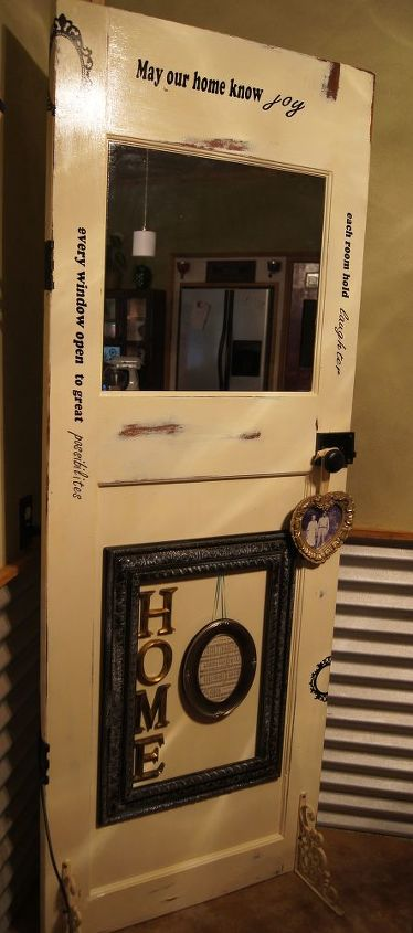 another way to re purpose and old door, doors, home decor, repurposing upcycling