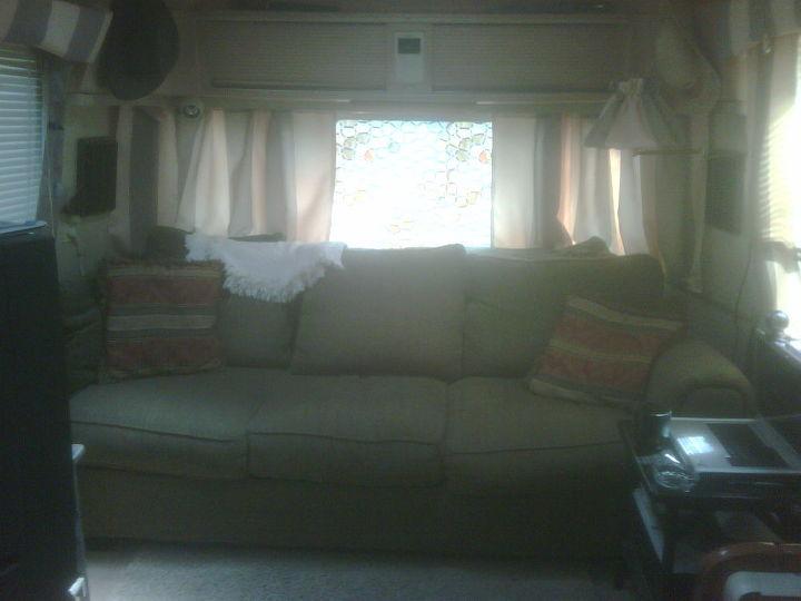 deck on camper, home decor