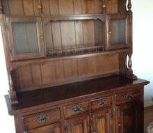 q china hutch re do, painted furniture, Here is a picture of this China Hutch