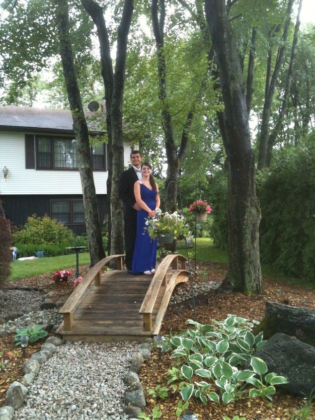 my bridge project was finished just in time for prom night rained during the day, outdoor living