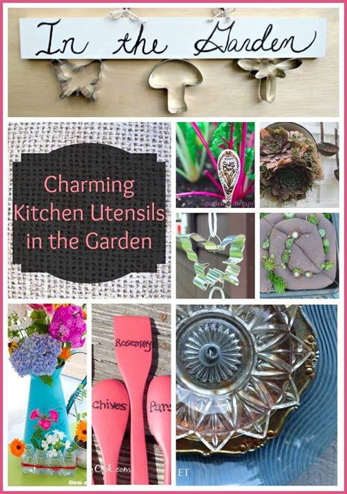 gardening decor kitchen utensils, container gardening, crafts, gardening, repurposing upcycling