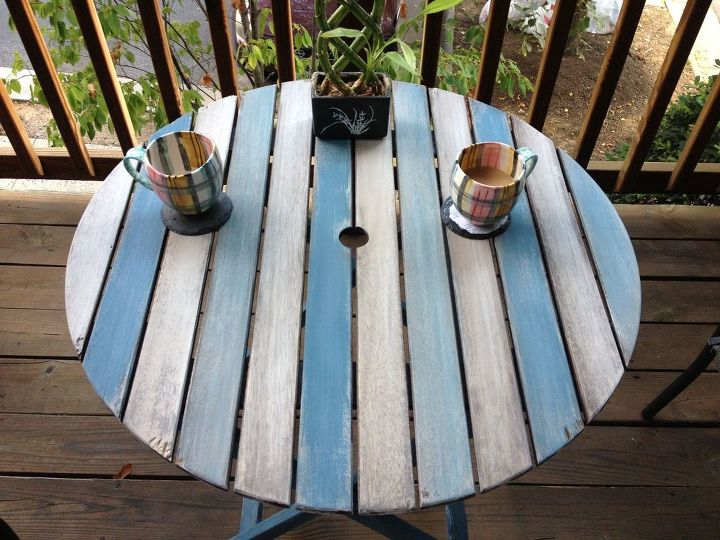 chalk paint patio table, outdoor furniture, painted furniture